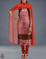 Kora & Pure Silk Salwar Kameez