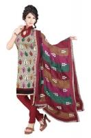 Mataka & Dupion Silk Salwar Kameez_1