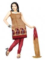Mataka & Dupion Silk Salwar Kameez_4