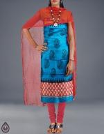 Shop Online Dupion Silk Salwar Kameez_16