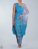 Shop Online Tusser Silk Salwar Kameez_14