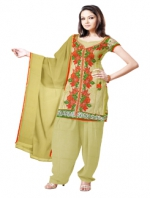 Online Tussar Silk Salwar Kameez_21