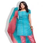 Online Tussar Silk Salwar Kameez_35
