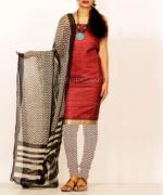 Online Tussar Silk Salwar Kameez_43
