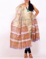 Online Tussar Silk Salwar Kameez_50