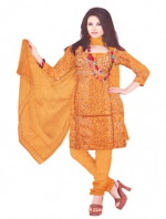 Online Tussar Silk Salwar Kameez _10