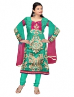 Online Tussar Silk Salwar Kameez _4