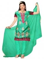 Online Tussar Silk Salwar Kameez _5