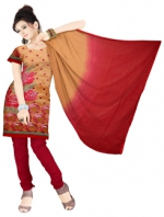 Online Tussar Silk Salwar Kameez _7