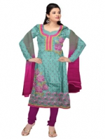 Online Tussar Silk Salwar Kameez _8